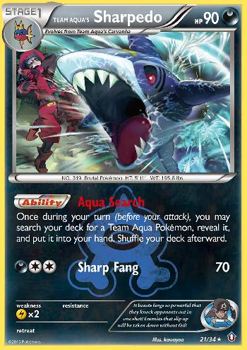 Team Aqua's Sharpedo (#21/34)