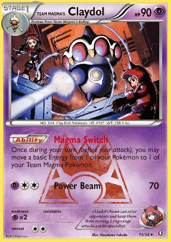 Team Magma's Claydol (#11/34)