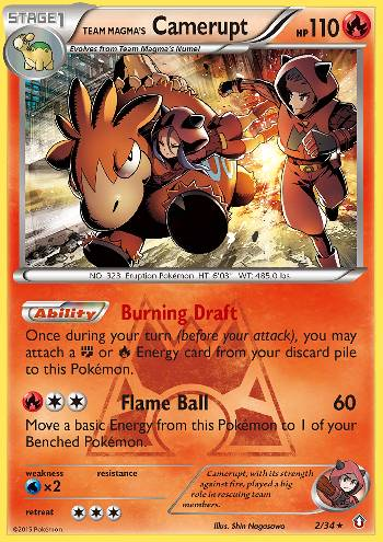 Team Magma's Camerupt (#2/34)