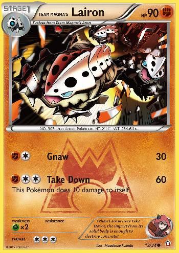 Team Magma's Lairon (#13/34)
