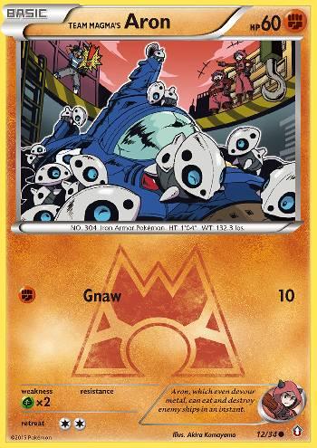 Team Magma's Aron (#12/34)