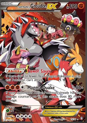 Team Magma's Groudon-EX (#15/34)