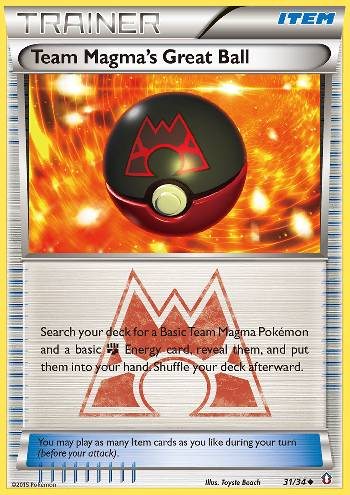 Team Magma\'s Great Ball (#31/34)