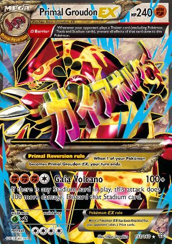Primal Groudon-EX (#151/160)