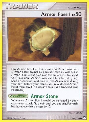Armor Fossil (#116/124)
