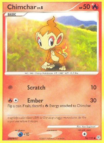 Chimchar (#76/130)