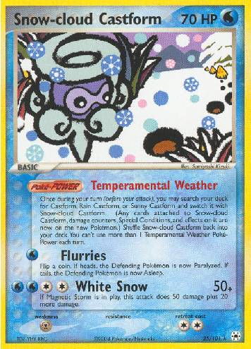 Snow-cloud Castform (#25/102)