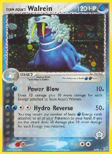 Team Aqua's Walrein (#6/97)