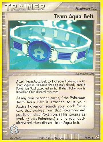 Team Aqua Belt (#76/97)
