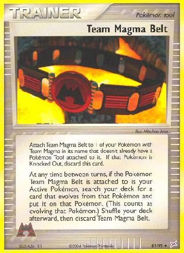 Team Magma Belt (#81/97)