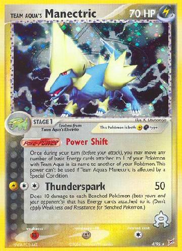 Team Aqua's Manectric (#4/97)