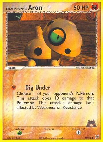 Team Magma's Aron (#59/97)