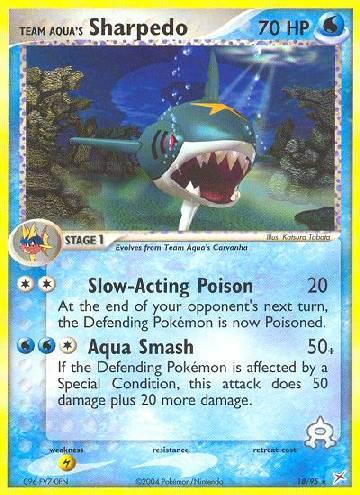 Team Aqua's Sharpedo (#18/97)