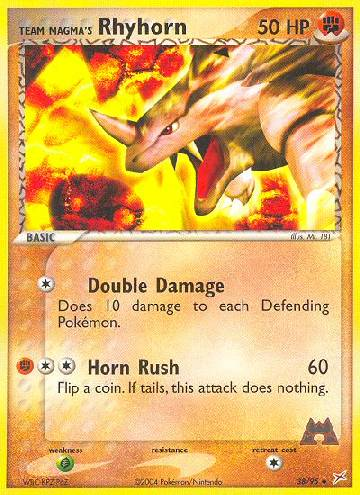 Team Magma's Rhyhorn (#38/97)