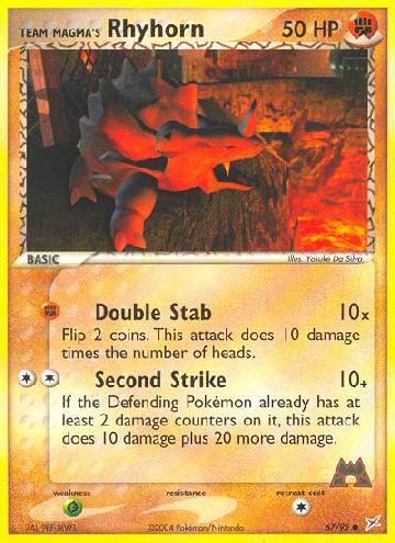 Team Magma's Rhyhorn (#67/97)