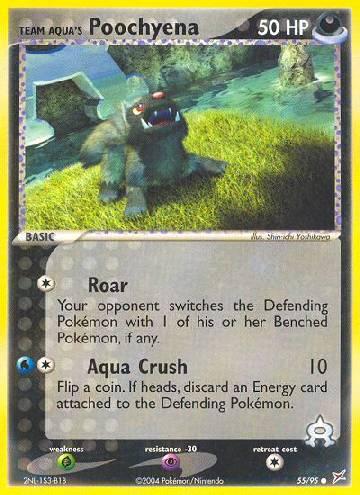 Team Aqua's Poochyena (#55/97)