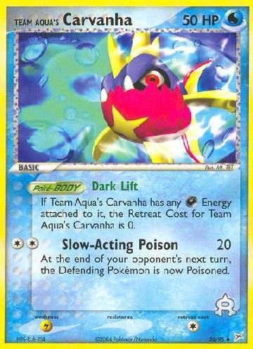 Team Aqua's Carvanha (#25/97)