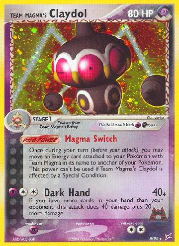 Team Magma's Claydol (#8/97)