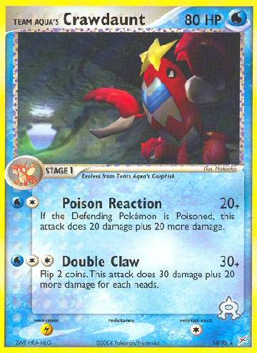 Team Aqua's Crawdaunt (#14/97)