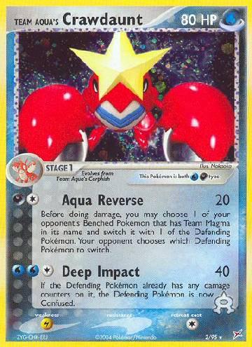 Team Aqua's Crawdaunt (#2/97)