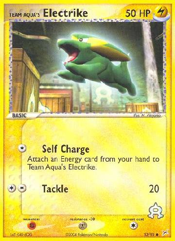 Team Aqua's Electrike (#53/97)