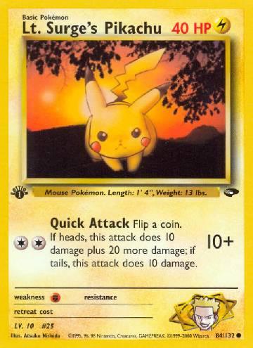 Lt. Surge's Pikachu (#84/132)