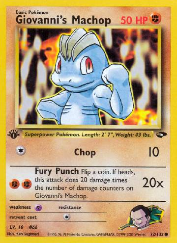 Giovanni's Machop (#72/132)