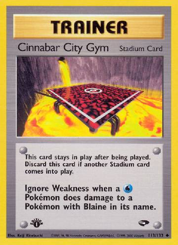 Cinnabar City Gym (#113/132)