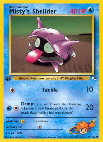 Misty's Shellder (#89/132)