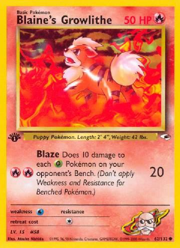 Blaine's Growlithe (#62/132)