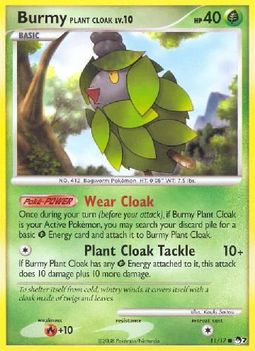 Burmy Plant Cloak (#11/17)