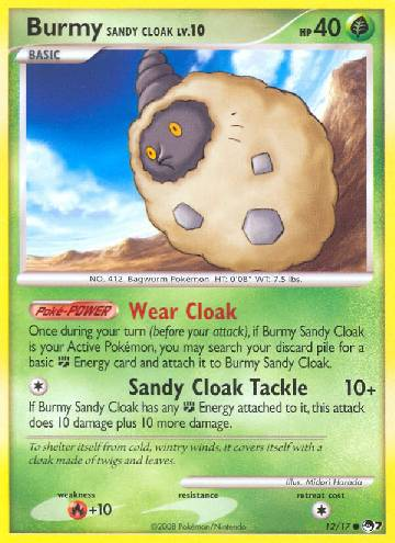 Burmy Sandy Cloak (#12/17)