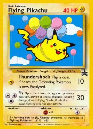 Flying Pikachu (#25/53)