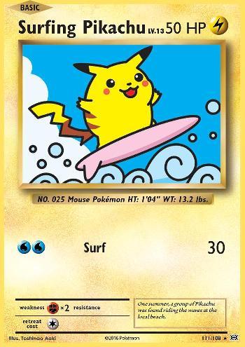 Surfing Pikachu (#111/108)