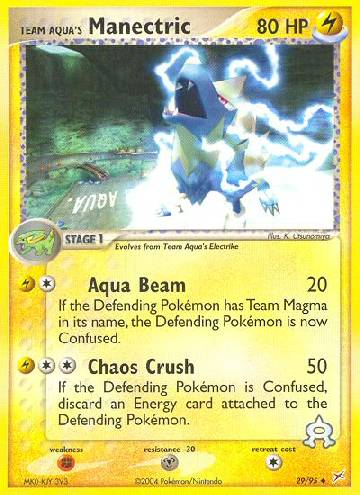 Manectric da Equipe Aqua / Team Aqua's Manectric (#29/97)