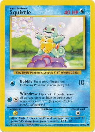 Squirtle (#63/102)